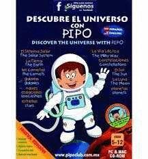 *** CD ROM DESCUBRE EL UNIVERSO CON PIPO 5-12 AÑOS