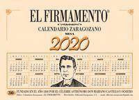 020 EL FIRMAMENTO PEQUEÑO -CALENDARIO ZARAGOZANO SOBREMESA ANILLADO