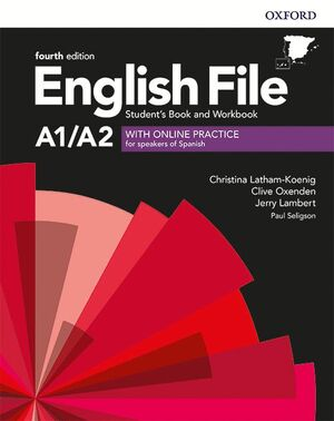 020 ENGLISH FILE 4TH A1/A2 STUDENT'S BOOK AND WORKBOOK WITH KEY PACK