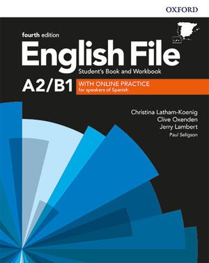 019 ENGLISH FILE PRE-INTERMEDIATE A2/B1 SB/WB WITH KEY PACK 4ED