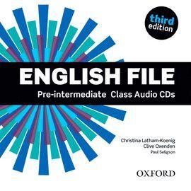 ENGLISH FILE PRE-INTERMEDIATE: CLASS AUDIO CD 3RD EDITION