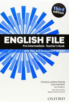 TEACHER´S BOOK  PACK ENGLISH FILE PRE-INTERMEDIATEK  CD PACK 3RD EDITION