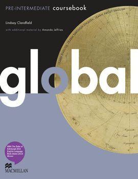 010 GLOBAL A2-B1 PRE-INTERMEDIATE COURSEBOOK + WORKBOOK +CD