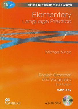 010 NEW ELEMENTARY LANGUAGE PRACTICE WITH KEY + CD 3º EDICION