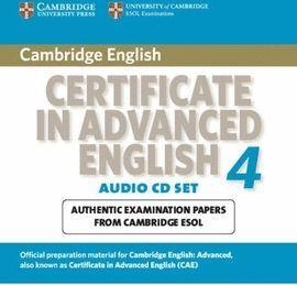 CD T4 CERTIFICATE IN ADVANCED ENGLISH CAE + KEY + CDS