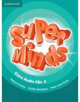 012 SUPER MINDS 3 CLASS AUDIO (+CD´S )