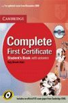 COMPLETE FIRST CERTIFICATE. STUDENT`S BOOK WITH ANSWER +CD