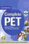 010 COMPLETE PET. STUDENT`S KEY WITH ANSWERS + CD