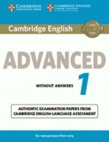 014 CAMBRIDGE ENGLISH: ADVANCED (CAE) 1 (2015 EXAM) STUDENT'S BOOK WITH ANSWERS