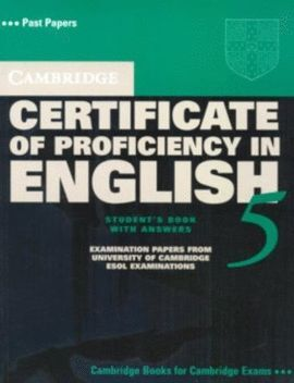 PROFICIENCY CERTIFICATE OF PROFICIENCY IN ENGLISH 2 WITH ANSWERS
