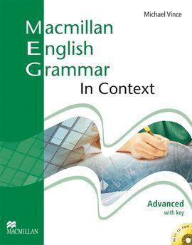 08- MACMILLAN ENGLISH GRAMMAR IN CONTEXT. ADVANCED WITH KEY +CD-R