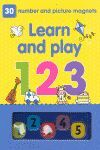 LEARN & PLAY 1 2 3. 30 NUMBER AND PICTURE MAGNETS