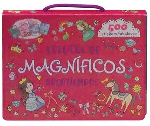 ESTUCHE DE MAGNIFICOS PASATIEMPOS. 4 LIBROS + 500 STICKERS FABULOSOS