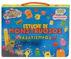 ESTUCHE DE MONSTRUOSOS PASATIEMPOS. 4 LIBROS + 500 STICKERS ESPELUZNANTES