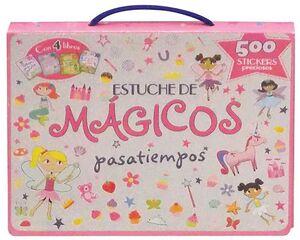 ESTUCHE DE MAGICOS PASATIEMPOS. 4 LIBROS + 500 STICKERS PRECIOSOS