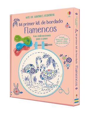 FLAMENCOS. MI PRIMER KIT DE BORDADO CON INSTRUCCIONES PASO A PASO