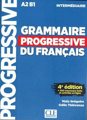 018 GRAMMAIRE PROGRESSIVE DU FRANÇAIS - NIVEAU INTERMÉDIAIRE - 4ª ÉDITION - LIVRE +