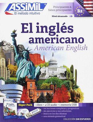 ASSIMIL EL INGLES AMERICANO LIBRO+ 4 CD + MEMORIA USB