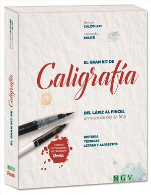 EL GRAN KIT DE CALIGRAFIA. DEL LAPIZ AL PINCEL: HISTORIA, TECNICAS, LETRAS Y ALFABETOS