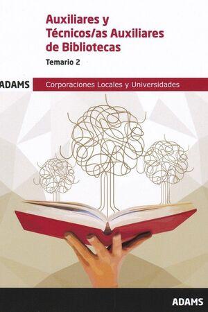 019 T2 AUXILIARES Y TECNICOS/AS AUXILIARES BIBLIOTECAS