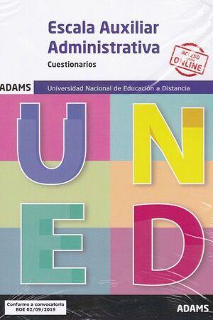 CUESTIONARIOS ESCALA AUXILIAR ADMINISTRATIVA UNIVERSIDAD NACIONAL DE EDUCACIÓN A