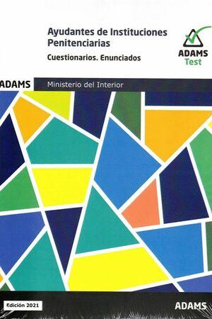 021 2VOLS TEST ENUNCIADOS AYUDANTES DE INSTITUCIONES PENITENCIARIAS MINISTERIO DEL INTERIOR