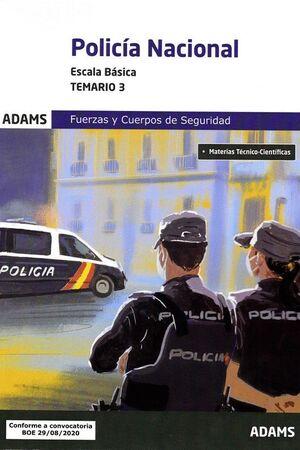 020 T3 POLICÍA NACIONAL ESCALA BÁSICA FUERZAS Y CUERPOS DE SEGURIDAD