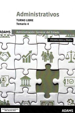 021 (LIBRE) T4 ADMINISTRATIVOS ADMINISTRACION ESTADO