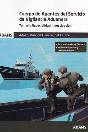 021 TEM CUERPO DE AGENTES SERVICIO DE VIGILANCIA ADUANERA