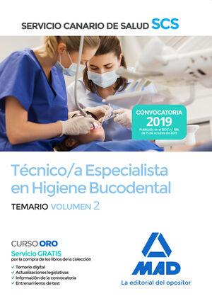 019 T2 TECNICO / A ESPECIALISTA HIGIENE BUCODENTAL SERVICIO CANARIO DE SALUD