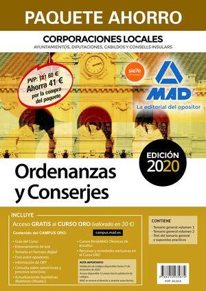020 PAQUETE AHORRO ORDENANZAS Y CONSERJES DE CORPORACIONES LOCALES.