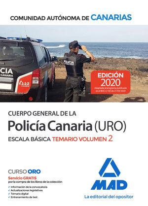 020 T2 POLICÍA CANARIA (URO) ESCALA BÁSICA COMUNIDAD AUTONOMA DE CANARIAS