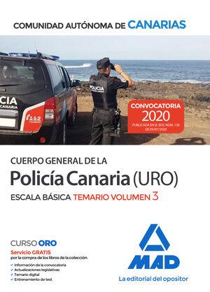 020 T3 POLICÍA CANARIA (URO) ESCALA BÁSICA COMUNIDAD AUTONOMA DE CANARIAS