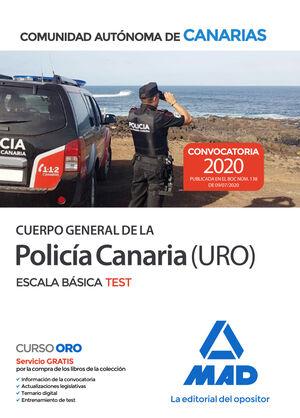 020 TEST POLICÍA CANARIA (URO) ESCALA BÁSICA COMUNIDAD AUTONOMA DE CANARIAS