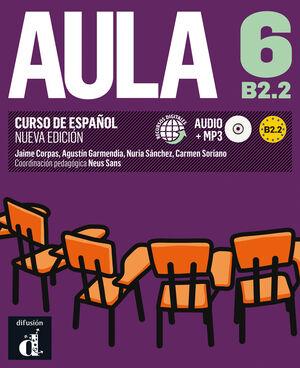 020 AULA 6 B2.2  LIBRO DEL ALUMNO + CD N/E