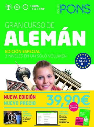 017 GRAN CURSO PONS ALEMAN. EDICION ESPECIAL 3 NIVELES EN UN SOLO VOLUMEN