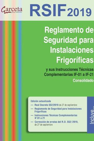 020 RSIF. REGLAMENTO DE SEGURIDAD EN INSTALACIONES FRIGORÍFICAS