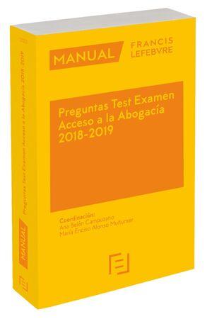 *** 018 ACCESO A LA ABOGACIA PREGUNTAS TEST EXAMEN