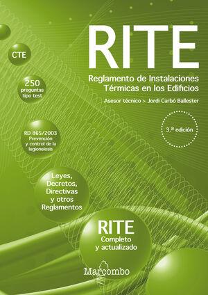 021 RITE. REGLAMENTO DE INSTALACIONES TERMICAS EN LOS EDIFICIOS 3ED