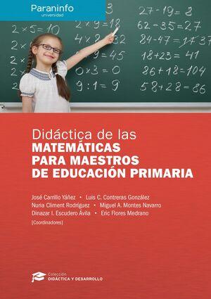 DIDACTICA DE LAS MATEMATICAS PARA MAESTROS DE EDUCACION PRIMARIA