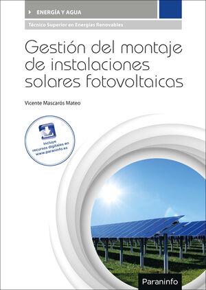 016 CF/GS GESTION DEL MONTAJE DE INSTALACIONES SOLARES FOTOVOLTAICAS