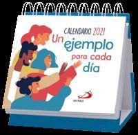 CALENDARIO DE MESA UN EJEMPLO PARA CADA DIA 2021