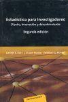 ESTADISITICA PARA INVESTIGADORES. DISEÑO, INNOVACION Y...