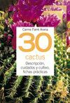 30 CACTUS -TUS PLANTAS EN PRACTICAS FICHAS (ANILLAS)