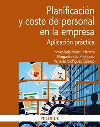 PLANIFICACION Y COSTE DE PERSONAL EN LA EMPRESA