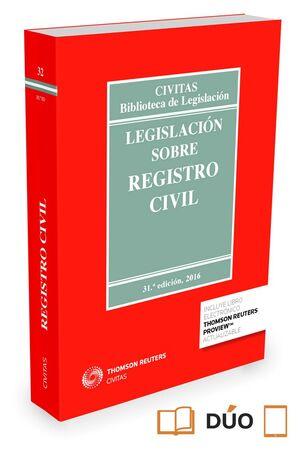 016 N32 LEGISLACIÓN SOBRE REGISTRO CIVIL 31EDICION