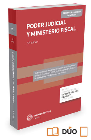 016 N99 PODER JUDICIAL Y MINISTERIO FISCAL (22 ED.) DUO