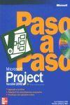 ** MICROSOFT PROJECT VERSION 2002 PASO A PASO + CD ROM