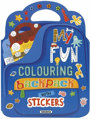 MY FUN COLOURING BACKPACK WITH STICKERS REF.7500-02