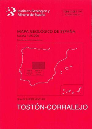 TOSTON-CORRALEJO. FUERTEVENTURA -MAPA GEOLOGICO ESPAÑA 1086 I/...